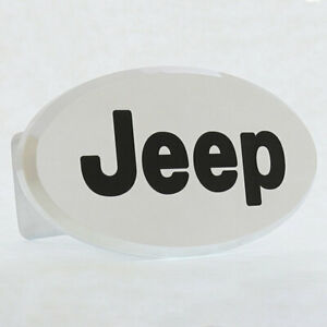 Jeep Oval Hitch Cover (Chrome)