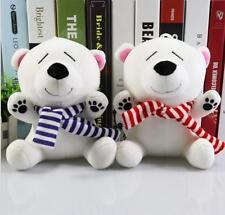 "22cm 8.7"" Cute Polar Bear Stuffed Soft Toys Plush Doll Baby Kids Christmas Gift"