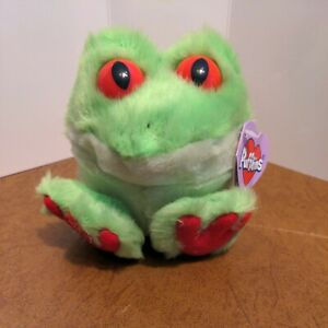 Swibco Puffkins FREDDY the Frog Beanie Stuffed Plush Amphibian NWT