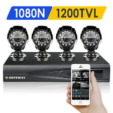 DEFEWAY 720P 4CH 1080N HDMI DVR CCTV Home Surveillance Security Camera System HD