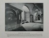 1901 London Aufdruck + Text St.PAUL'S Kathedrale Painters Ecke