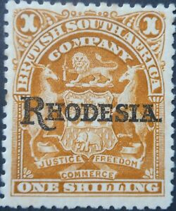 Rhodesia 1909 One Shilling SG 107 mint