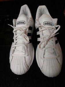 Adidas Men's Superstar 2G Low Basketball Shoes White Leather 669163 EUC Sz 16 W2