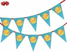 Bon Voyage Bunting Banner 15 flags Have a Safe Journey Theme by PARTY DECOR