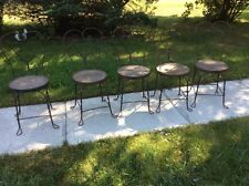 ICE CREAM PARLOR CHAIRS UNIQUE SHABBY CHIC, VINTAGE ANTIQUE WROUGHT IRON