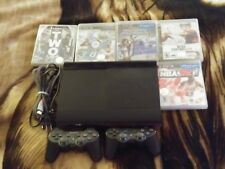 a) Sony Playstation PS3 232GB Video Game Console 2 Controllers & 5 Games