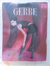 GERBE PARIS TIGHTS TRANSPARENT HEEL BACK ZIPPER SEAM BLACK MEDIUM PANTYHOSE