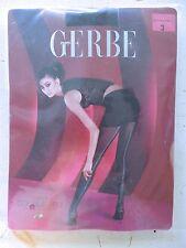 Gerbe Paris Black Tights Size Medium Transparent Heel Back Zipper Seam