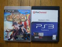 USED BioShock 1+2+Infinite - PlayStation 3 PS3 - Trilogy Lot of 2 Bundle *READ*