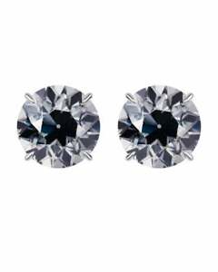 1.25 4-Prong Basket Round Grey OEC Moissanite Stud Earrings 14K Y W Or R Gold