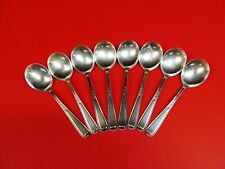 """8 Sterling Silver soup spoon  By National Silver co. 6"""" L"""