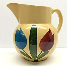 Vintage Original Watt Pottery USA #17 Ice Lip Tulip Pitcher Excellent Condition