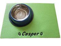 Personalised Custom Place Mat / Food Mat/ Bowl Mat / Feeding Mat Dog Cat Pet