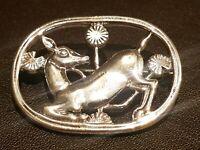 Georg Jensen Malinowski Style Denmark Danish Sterling Silver Deer Fawn Brooch