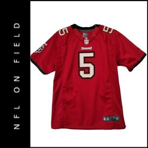 Reebok NFL On Field Youth Tampa Bay Buccaneers Freeman # 5 Jersey Red Sz Large