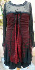 robe * la mode est à vous * LMV taille 46 ou + modele TARTAN noir m/long neuf ét