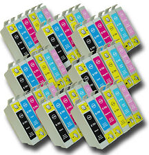 48 T0791-T0796 'Owl' Ink Cartridges Compatible Non-OEM with Epson Stylus 1500W