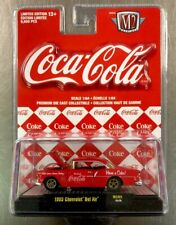 M2 MACHINE COCA-COLA 1955 CHEVY BEL AIR RED 1:64 SCALE FREE SHIPPING.