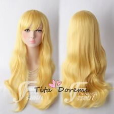 Halloween Wig Costume Your Lie in April Blonde Cosplay Perruque Cheveux 75cm