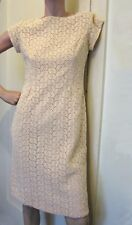 Marsha Mayne Cream Floral Lace Wiggle Dress, Small, Formal, 50's/ 60's, Wedding