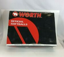 "Worth 12"" Protac Gold Dot C-Lok Compression Softball Px44Ysa White / One Dozen"