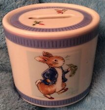 Wedgewood Peter Rabbit Money Box. Oval Shaped, Made In England 7.4cm High