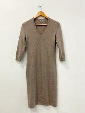 Designer MALO Size M Tan Cashmere Knit Stunning Women's Dress