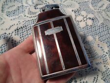 Antique RONSON MASTER CASE Cigarette CASE with LIGHTER Silver metal & Browns