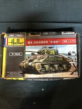 """Heller Military M4 Sherman """"d-Day"""" Tank Model Kit Scale 1/72 1:72 91 pieces"""