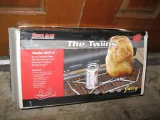 Chicken Roaster Twins Beer Can Chicken Holder Barbecue BBQ NEW
