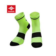 SANTIC MTB Bike Professional Cycling Socks Breathable Outdoor Sport Socks Green