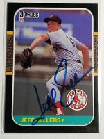 1987 Donruss Jeff Sellers RC Autograph Card Red Sox Signed #544 Rare Auto