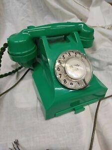 GPO JADE GREEN BAKELITE 332L ROTARY DIAL TELEPHONE