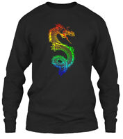Rainbow Asian Chinese Dragon T Gildan Long Sleeve Tee T-Shirt