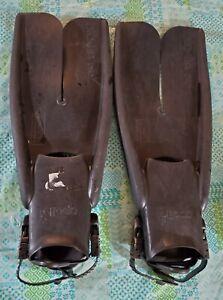 Apollo Bio-Fin Pro Swim Fins Split Open Heel Size Medium Black Tactical Style