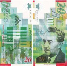 Israel 20 New Sheqalim Twenty Shekels Bank of Israel Paper Acting Bill 2014