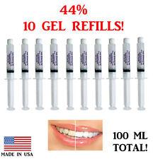 44% Teeth Whitening Gel Tooth Bleaching 10 Syringes 3D  Dental Professional USA!
