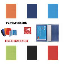 2 PZ Porta Carte di Credito Bancomat RFID x ANTITRUFFA PROTEZIONE FURTI 2 Spazi