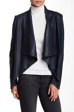 La Marque Collection Black Leather Sz M Magnet Jacket Coat Medium Lamarque EUC