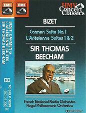 Bizet: CARMEN SUITE NO.1 L'ARLESIENNE  1 & 2  CASSETTE ALBUM Sir Thomas Beecham
