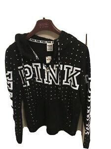 Victoria Secret Pink Hoodie - S P Diamonties New With Tags - Stunning