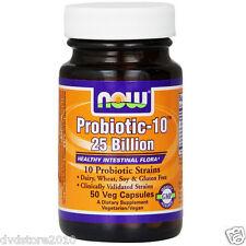 VITAMINA NOW Foods Probiotic-10, 25 billion 50 capsule probiotic NOW2926