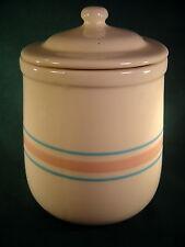Vintage McCoy USA - Pink & Blue Stripe Cookie/Tea Cannister #131