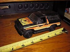 Vintage 1/32 ? 1980's Ford Bronco 4x4 black for parts restore or slot car body