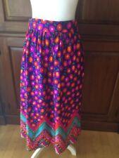 Vintage 60\u2019s 70\u2019s Patchwork Hippie Prairie Boho Maxi Skirt