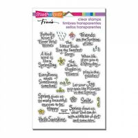STAMPENDOUS RUBBER STAMPS CLEAR SPRING SENTIMENTS NEW clear STAMP SET