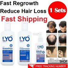 LYO Hair Care Fast Regrowth Reduce Hair Loss Natural Extracts SETS