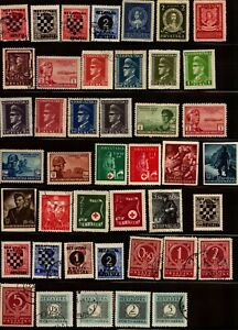 CROATIA - Nice Collection of 60+ Stamps - Check Scans -Free Shipping