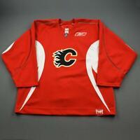 2008-09 Craig Conroy Calgary Flames Practice Used Worn NHL Hockey Jersey MeiGray