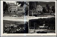 Bad Elster Sachsen 4-fach Mehrbildkarte 1938 Dt. Reich Marienquelle Albertbad
